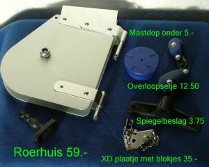 Roerhuis, mastdop, overloopsetje, spiegelbeslag, XD plaatje